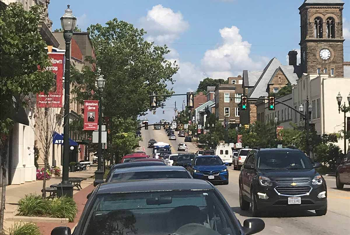 View of Main Street in Lancaster, Ohio
