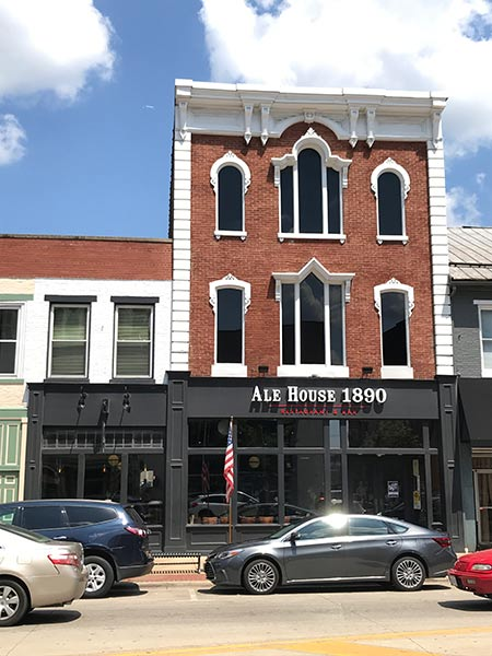 Ale House 1890 storefront on Main Street in Lancaster, Ohio.