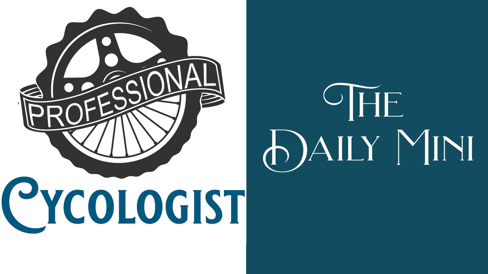 The Daily Mini announcement graphic with image of bicycle wheel and gear with words professional cytologist.