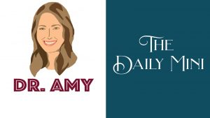 Daily Mini Announcement with graphic of Dr. Amy Acton.