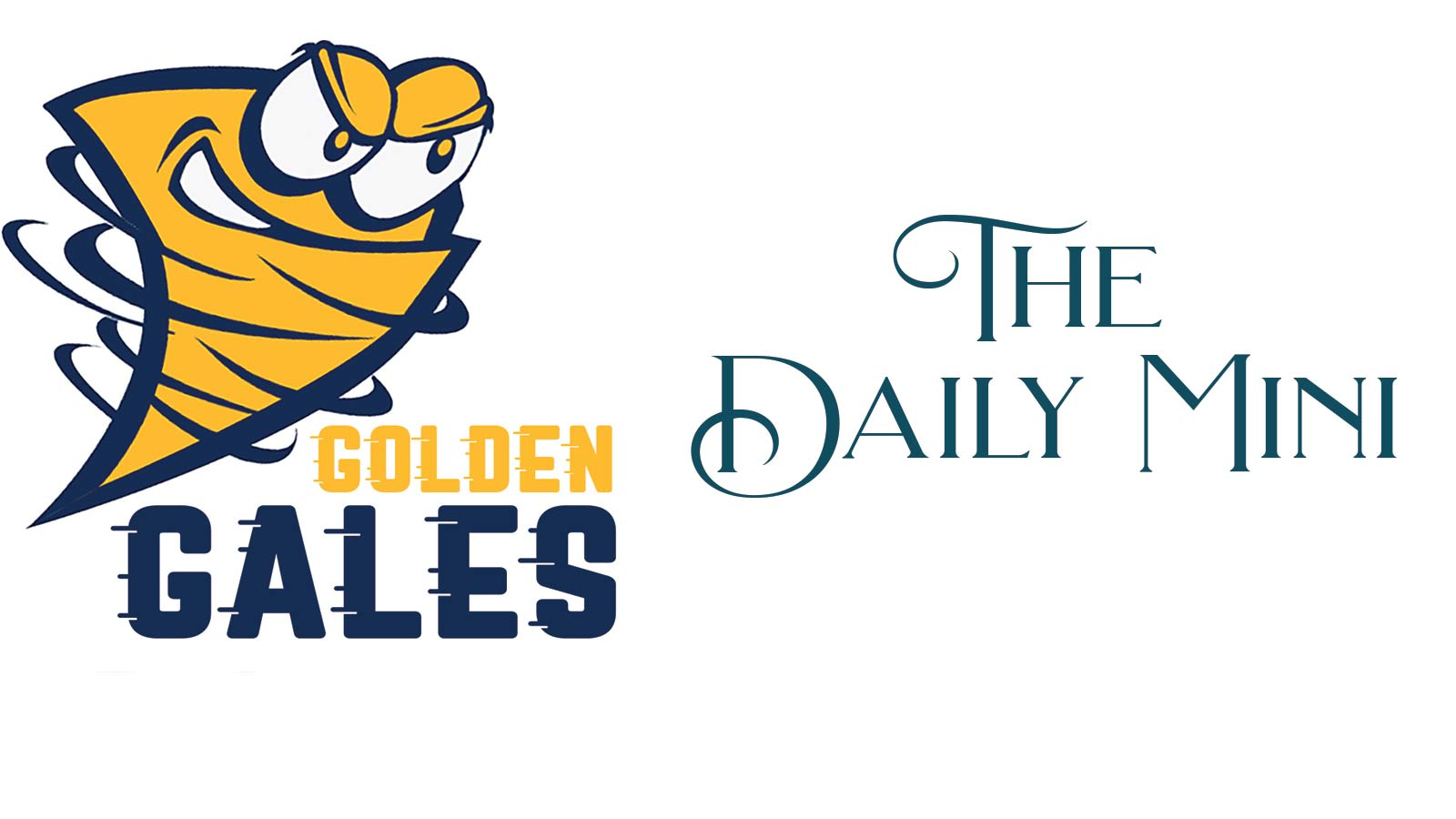 Lancaster Golden Gales logo with title Daily Mini.