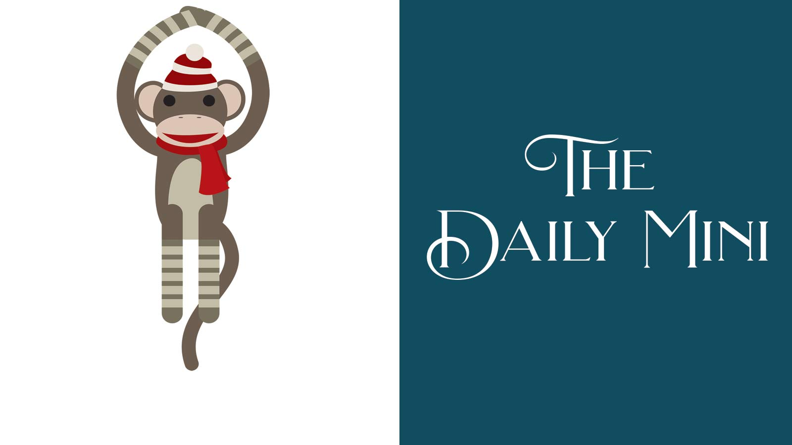 The Daily Mini announcement featuring Sock Monkey