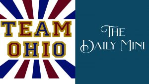Daily Mini announcement showing Team Ohio pattern.