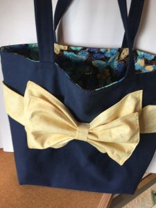 Front view of the Bow Bag project