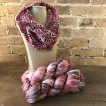 Crochet Lancaster Cowl in Fairfield County Fair Colorway