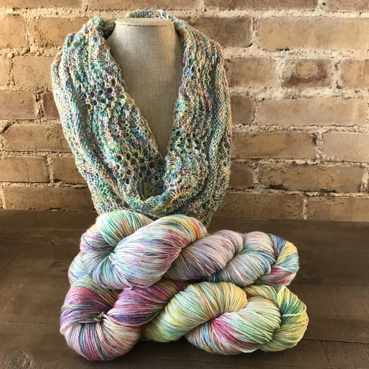 Knit Lancaster Cowl in Glasstown Countdown Colorway